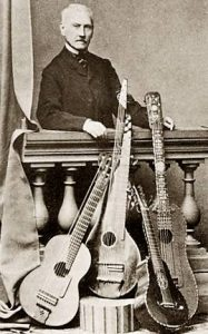 Napoleon_CosteNapoléon Coste with one of his Lacôte floating 7th string guitars
